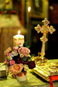 Lumanare handmade flori de hartie